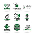 Tennis icon set quality icons that can be used in areas such as and sports kit Royalty Free Stock Photo