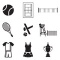 Tennis icons this image is a vector illustration and can be scaled to any size without loss of resolution Royalty Free Stock Images