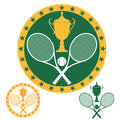 Tennis isolated objects on white background vector illustration eps Royalty Free Stock Image