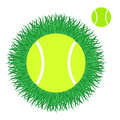 Tennis isolated objects on white background vector illustration eps Stock Photography