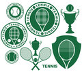 Tennis isolated objects on white background vector illustration eps Stock Photos