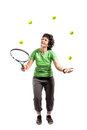 Tennis juggler Stock Images