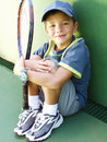 Tennis kid. Royalty Free Stock Photos