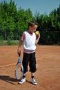 Tennis kid Royalty Free Stock Photo