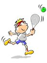 Tennis kid - illustration Royalty Free Stock Images