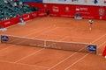 Tennis match - Gael Monfils vs. Paul-Henri Mathieu Royalty Free Stock Photo