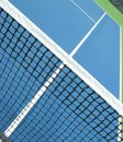 Tennis net and alley Stock Images