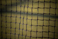 Tennis net at the clay court Stock Image