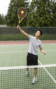 Tennis Overhead Volley Stock Photos