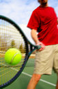 Tennis play Royalty Free Stock Photography
