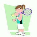 Tennis player cartoon this is Royalty Free Stock Photos