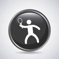 Tennis player icon. Sport design. Vector graphic