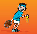 Tennis player, illustration Royalty Free Stock Photo