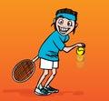 Tenis hráč ilustrace