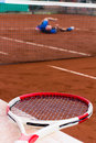 Tennis player lost the game Royalty Free Stock Photo