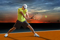 Tennis Player Outdoors Royalty Free Stock Photo