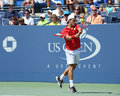 Tennis player roberto bautista agut us open new york august professional during second round match at against david ferrer at Stock Photos