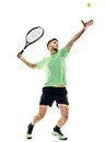 Tennis player service serving man Royalty Free Stock Photo