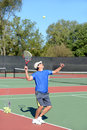 Tennis Player Serving Royalty Free Stock Photo