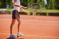 Tennis player serving tennis balls Royalty Free Stock Photo