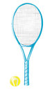 Tennis racket Stock Image