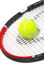 Tennis racket with a ball Stock Photos