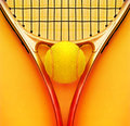 Tennis racket and ball Royalty Free Stock Photo