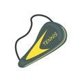 Tennis racket cover sport equipment cartoon vector Illustration