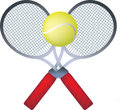 Tennis rackets Stock Image