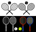 Tennis rackets. Royalty Free Stock Image