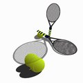 Tennis rackets balls and for Royalty Free Stock Image