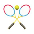 Tennis rackets colorful illustration with for your design Stock Images