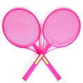 Tennis rackets isolated Royalty Free Stock Image