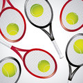 Tennis rackets over white background vector illustration Stock Images