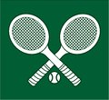 Tennis rackets vector illustration of the Royalty Free Stock Image