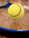Tennis Racquet and Ball Stock Photo