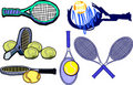 Tennis Racquet Images Vector Stock Image