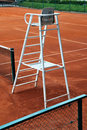 Tennis referee chair Royalty Free Stock Photo