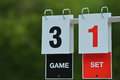 Tennis scoreboard Royalty Free Stock Photo