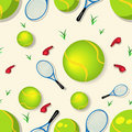 Tennis seamless pattern Royalty Free Stock Image