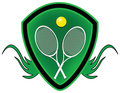 Tennis shield. Stock Photos