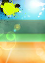 Tennis sport background abstract color poster with space Royalty Free Stock Photography