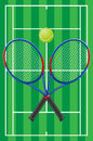 Tennis vector sport set illustration Stock Photos