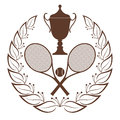 Tennis vintage isolated object on white background vector illustration eps Stock Photography