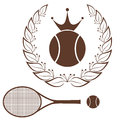 Tennis vintage isolated objects on white background vector illustration eps Royalty Free Stock Image