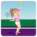 Tennis Woman Stock Images