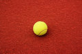 Tennisball on the court Royalty Free Stock Photo