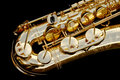 Tenor Saxophone close-up Royalty Free Stock Photo