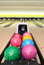 Tenpin Bowling Balls Royalty Free Stock Photo