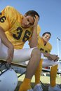 Tense Rugby Player Stock Images